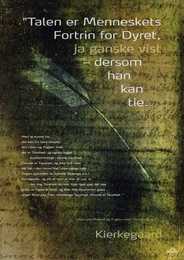 Kierkegaard-citatplakat