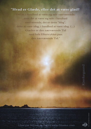 Kierkegaard-citatplakat – hvad er glæde