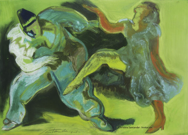 kunstplakat - invitation til dans