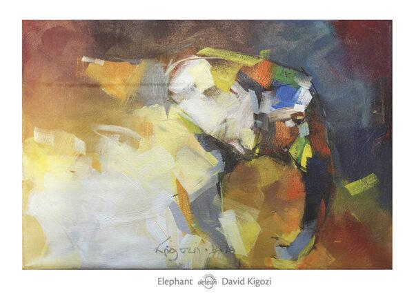 elefant 1 afrikansk kunstplakat